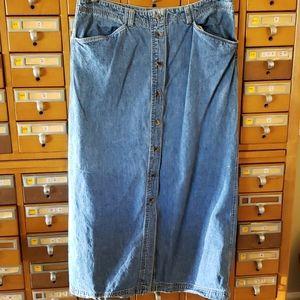 Jones New York long denim skirt